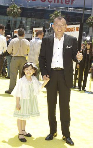 『笑福亭鶴瓶と名子役が3Dアニメ『怪盗グルーの月泥棒』ワールドプレミアに出席!』
