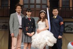 『石川梨華、父親と同世代の辰巳琢郎が同級生役でビックリ!』