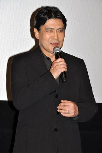 舞台挨拶の松本幸四郎