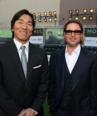 『松井秀喜、ブラピとの初対面に満面の笑み。でも、レッドカーペット体験できず残念…』