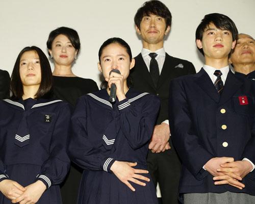 『主演の藤野涼子が万感の涙!『ソロモンの偽証』初日舞台挨拶』
