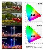 『驚きの新・色域規格! 自然界の色彩をほぼ100%再現』