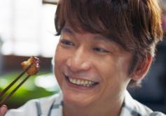 『香取慎吾が新CM撮影でチーズインハンバーグを15個も快食!』