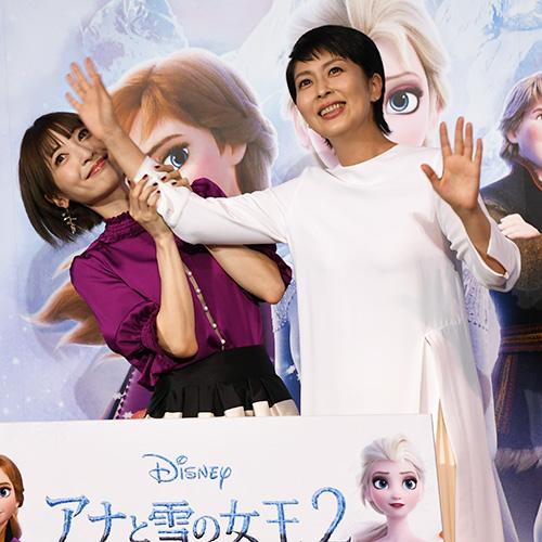 『松たかこ&神田沙也加、エルサとアナ顔負けの仲良しぶり!』